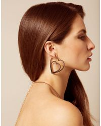 Agent Provocateur - Ettie Double Heart Earrings Rose Gold - Lyst
