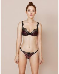 Agent Provocateur Adelia Bra Black gold in Black - Lyst 6da513b19