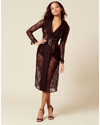 Agent Provocateur - Scotty Trench Coat Black - Lyst