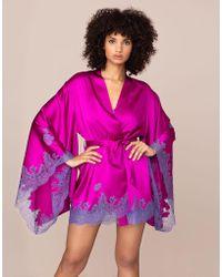 Agent Provocateur - Elizabelle Short Gown Pink - Lyst