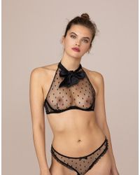 Agent Provocateur - Madelina High Neck Underwired Bra - Lyst