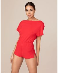 Agent Provocateur - Zofia Jumpsuit Red - Lyst