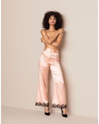 Agent Provocateur - Amelea Pyjama Bottom Pink/black - Lyst