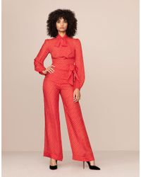 Agent Provocateur - Pennie Trouser Red And White - Lyst