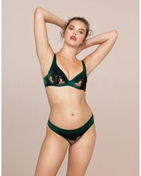 8b56a6f836 Agent Provocateur - Anais Ouvert Green And Black - Lyst