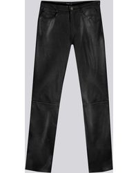 Agnes B. | Black Soft Leather Hina Jeans | Lyst