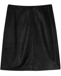 agnès b. - Black Matte Leather Karen Skirt - Lyst