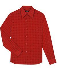 agnès b. - Red Printed Cotton Shirt - Lyst