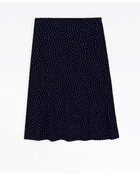 agnès b. - Blue Polka Dot Widen Skirt - Lyst