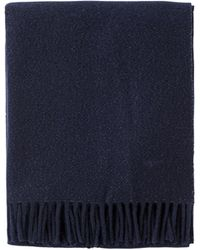 agnès b. - Blue Wool And Lurex Bilal Scarf - Lyst