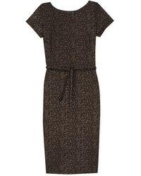 agnès b. - Black New Vitti Dress With Golden Polka Dots - Lyst