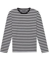 agnès b. - Black Supple Cotton Jersey T-shirt Coulos - Lyst
