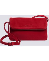 agnès b. - Red Brushed Suede Asyana Bag - Lyst