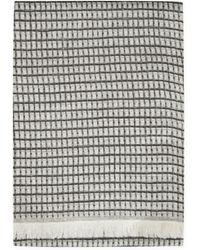 agnès b. - Black Pattern Wool Joseph Scarf - Lyst