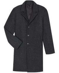 agnès b. - Grey Heathered North Coat - Lyst