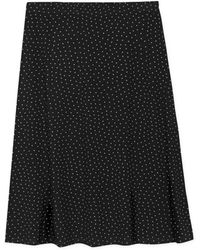 agnès b. - Blue Polka Dot Widen Skirt - Lyst