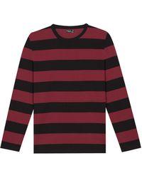 agnès b. - Bordeaux Striped Jersey Coulos T-shirt - Lyst