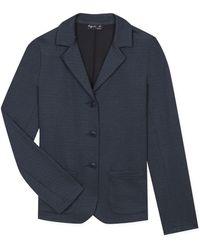 agnès b. - Blue Jacquard University Jacket - Lyst