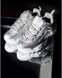 Fila - Womens Disruptor Ii Premium Metallic Sneaker - Lyst