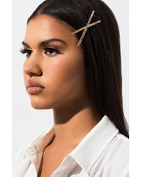AKIRA - Do U Believe Rhinestone Hair Clip - Lyst