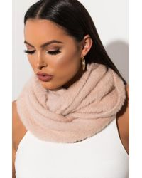 AKIRA - Good Vibes Knit Infinity Scarf - Lyst