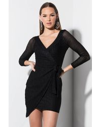 AKIRA - Fabulous Ii Off Shoulder Mini Dress - Lyst