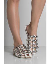 Cape Robbin - Believe It Or Not Studded Slide Sandals - Lyst