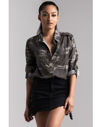 AKIRA - Know The Drill Button Down Shirt - Lyst