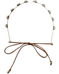 AKIRA - Pearl Embellished Wrap Headband - Gold (ih3315bgbr) - Lyst