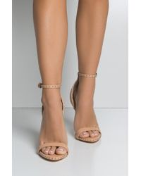AKIRA - Edged To The Side Strappy Sexy Heels - Lyst