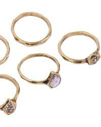 AKIRA - Gypsy Ring Set - Lyst