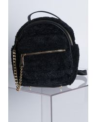 33be9af184bd AKIRA - Fuzzy Is The New Black Faux Fur Mini Backpack - Lyst