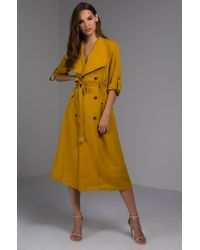 AKIRA - Where Your Love Lies Trench Coat - Lyst