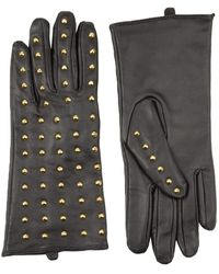 AKIRA - Rev Up Genuine Leather Glove With Studs - Lyst