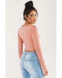 0991f96b01 PAXTON - The Right Mesh Crop Top - Lyst