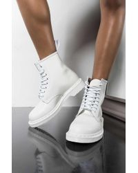 Dr. Martens - 1460 White Mono Smooth Ankle Boots - Lyst