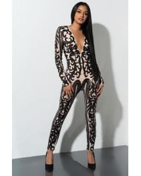 AKIRA - Time To Party Sequin Jumpsuit - Lyst