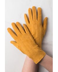 AKIRA - Always On Hand Faux Suede Gloves - Lyst