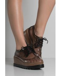 AKIRA - I See Only You Pvc Flatform Oxford Trainers - Lyst