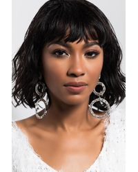 AKIRA - Belle Of The Ball Rhinestone Earring - Lyst