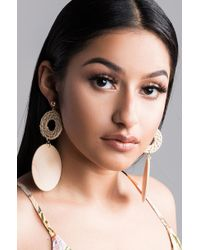 AKIRA - Hold Your Own Wooden Earring - Lyst