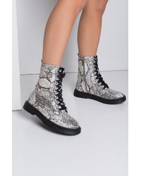 Cape Robbin - Hustler Lace Up Combat Boots - Lyst