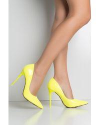AKIRA - Seductive Pointed Toe Sexy Heel Pumps - Lyst