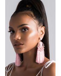 AKIRA - Pink Fresco Earring - Lyst