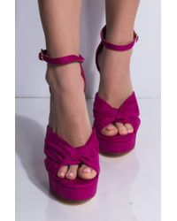 AKIRA - Bff Getaway Sexy Stiletto Platform Sandal - Lyst