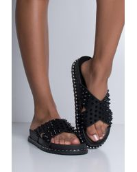 AKIRA - Dont Mess With Me Slides Sandals - Lyst