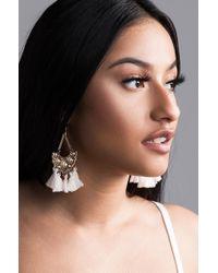 AKIRA - Make My Day Tassel Earring - Lyst