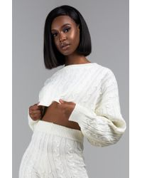 AKIRA - Waiting For The Snow To Fall Cropped Sweater - Lyst