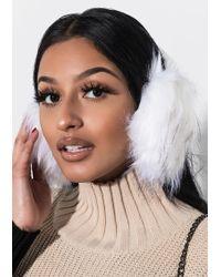 AKIRA - Cindy Lou Faux Fur Earmuffs - Lyst