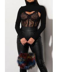 AKIRA - Furry Dreams Faux Fur Mini Purse - Lyst